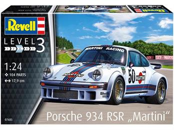 Revell 07685 Porsche 934 RSR Martini Racing Car Kit 1/24th