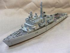 Resin & White metal kit to construct a good waterline model of one of these famous landing ships. Also included:2 x LCU landing craftDecals for Fearless Photo Etched detail parts2 x AEW2A Sea King Helicopters1 x Sea Harrier1 x 4 ton Fuel Tanker3 x 4 Ton lorry's1 x container1 x tank