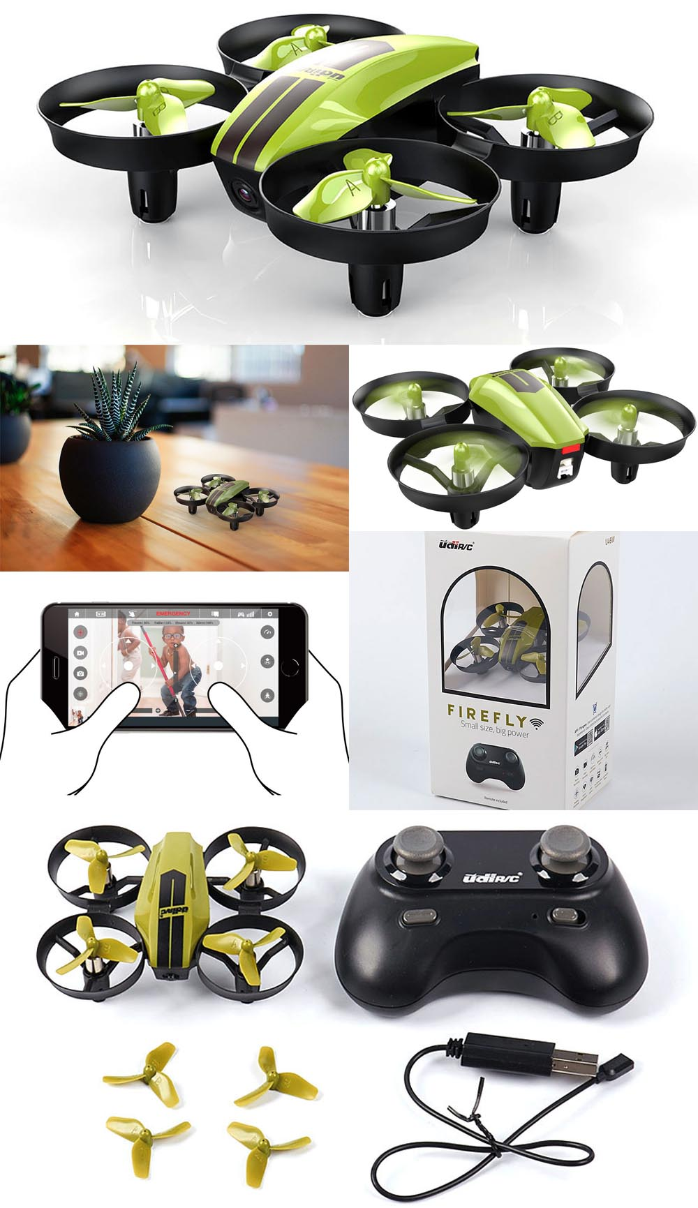 Udir C Firefly Rtf Wifi Drone With Camera U46w