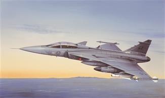 Italeri 2638 is a 1/72nd scale plastic kit of a Swedish JAS 39A Gripen Jet Fighter