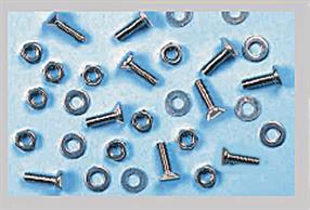 Pack of 10 M3 (3mm metric thread) by 12mm length countersunk head bolts with nuts and washers.