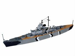 Revell 1/1200 Bismark German Battleship Kit 05802Length 200mm	Number of Parts 31Glue and paints are required to assemble and complete the model (not included)