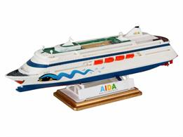 Revell 1/1200 Aida Cruise Liner Kit 05805Length 161mm    Number of Parts 28Glue and paints are required to assemble and complete the model (not included)