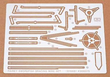 Tamiya 1/48 Etched Bracing Wire Set for Fairey Swordfish 61069Just what you need to enhance your Fairey Swordfish kit, a superb photo etched set of wing braces.
