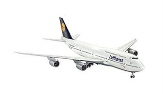 Revell 1/144 Boeing 747-8 Lufthansa Plastic Kit 01111Glue and paints are included