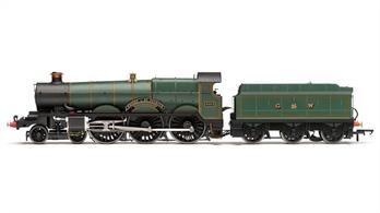 Hornby Railways OO Gauge R3455 GWR Star Class 4-6-0 4013 Knight of St.Patrick GWR Post WW2 Lined Green G (crest) W LetteringHornbys model features a motor mounted in the locomotive powering the driving wheels and detailing from a careful examination of the surviving Star 4003 Lode Star from the NRM collection.DCC Ready. 8-pin decoder rquired for DCC operation.