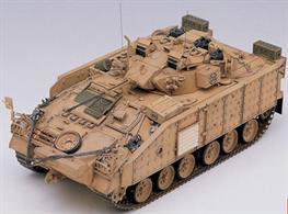Academy 1/35 British Warrior MCV Armoured Personnel Carrier Modern Iraq 2003 13201This newly built tooling will accurately reproduce a model kit of the British Army's Warrior MCV which acted in Civil Wars in ex-Yugoslavia as well as Iraq War in 2003.Glue and paints are required