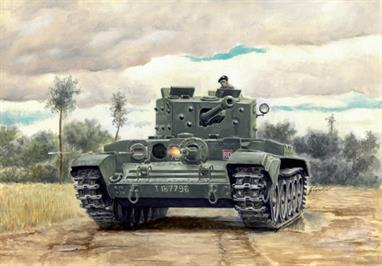 Italeri W15654 1/56 Scale Warlord WW2 British Cromwell MKIV TankPlastic kit building a Cromwell Mk.IV tank in 1/56 scale for use alongside the Warlord Games 28mm range