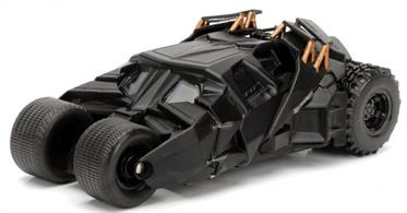 Jadadtoys 1/32 The Dark Knight Batmobile 'The Tumbler' 98232From the blockbuster movie Batman The Dark Knight comes this unique take on Batman's trusted ride, the Tumbler Batmobile! Featuring a die-cast body and rubber tyres, this 1: 32 scale Batmobile is a must have in any Bat-fan! Supplied in a Batman themed window box.