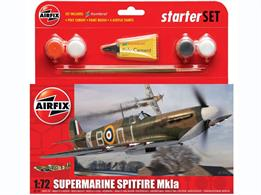 Airfix 1/72 Supermarine Spitfire Starter Set with Paint & Glue A55100Probably the best known fighter aircraft ever, and arguably the best looking too, with its sleek lines and elliptical wings, the Spitfire will be forever remembered for its role in the Battle of Britain.