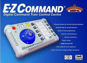 Ideal for train sets and small layouts! Antics recommends the Bachmann E-Z Command DCC Digital Controller 36-501Straight-forward Digital Command Control that can run an entire layout for less than the cost of a twin track analogue controller! The EZ-Command can address up to 10 locomotives with sufficient power to run 2 or 3 OO locomotives at the same time.