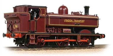 This model represents an unusual era in British railway history. Seeking replacements for their small fleet of steam locomotives required for engineering trains London Transport settled on the GWR 57xx pannier tanks as ideal replacements. Several of the locomotives were sold directly to preservation societies when withdrawn.The Bachmann model features a smooth running mechanism, offering good slow-running, ideal for shunting, plus a realistic top speed for moving goods trains on the mainline. The body is nicely detailed, representing the early design of the 57xx locos, finished in this case in London Transport maroon livery.