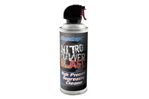 Performance depends greatly on motor maintenance. In this istuation you need to reach for a can of Nitro Power Blast. Specially developed cleaning spray for cleaning up fuel and 'gunk' associated with nitro cars. Old oil and fuel can be blasted away to leave chassis parts and crankcases like new. Supplied with an extension nozzle for those hard to reach places