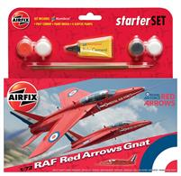 Airfix 1/72 Red Arrows Gnat Starter Set A55105Comes with glue and paints to assemble and complete the model.