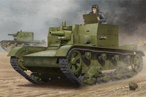 Hobbyboss 82499 1/35 Scale Soviet AT-1 Self Propelled GunDimensions - Length 132mm Width 71mm.The kit has over 960 parts and includes a photo etched sheet of detailing items. Comprehensive instructions are included.Adhesive and paints are required to assemble and complete the model (not included).