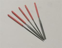 Set of 5 miniature needle files 100mm overal length.