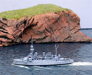 "Another exquisite small model from Navis, new in July 2013!Aegir or Agir was an Odin class coastal defence ship launched in 1895. The main armament comprised 3 x 9.4"" guns. Displacement was nominally 3750 tons."