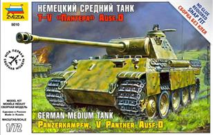 The Sd.Kfz.171 Panther was one of the most important German heavy tanks of WWII with over 6000 produced.Our kit can be assembled without glue – nevertheless all details are faithfully reproduced.Tracks made of flexible plastic. Decals for 2 German Units