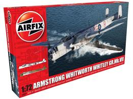 Airfix A09009 1/72nd Armstrong Whitworth Whitley MKVII RAF Bomber KitNumber of Parts 187  Length 313mm   Wingspan 356mm