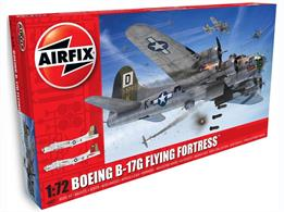 Airfix A08017/A08017A 1/72nn USAAF B-17G Flying Fortress WW2 American Bomber KitNumber of Parts 245  Length 320mm  Wingspan 438mm