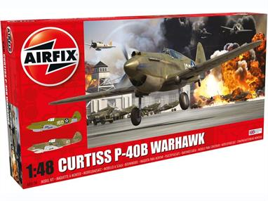 Airfix A05130 1/48th Curtiss P40B Fighter Aircraft KitNumber of Parts 106   Length 202mm  Wingspan 237mm