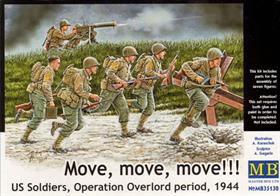 "Master Box MB35130 1/35 Scale US Soldiers, Operation Overlord ""Move, Move, Move!!!"""
