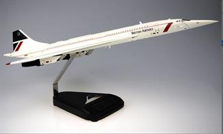 In Flight Configuration model of Concorde in British Airways Landor tail livery adopted by BA from 1984 to 1997.