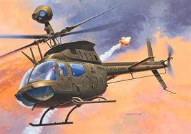 Revell 1/72 Bell OH-58D Kiowa Helicopter Kit 04938Glue and paints are required