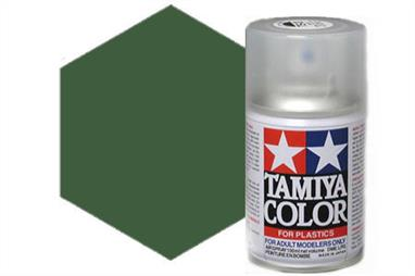 Tamiya TS70 Olive Drab JGSDF Synthetic Lacquer Spray 100ml TS-70These cans of spray paint are extremely useful for painting large surfaces, the paint is a synthetic lacquer that cures in a short period of time. Each can contains 100ml of paint, which is enough to fully cover 2 or 3, 1/24 scale sized car bodies.