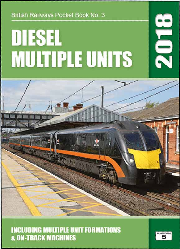 <strong>Platform 5 BRPB3 British Railways Diesel Multiple Units and On-Track Machines 2018 Pocket Book </strong><br />A complete listing of DMU trains registered with Network Rail in autumn 2017.<br />Unit trains provide the majority of the passenger train stock operating in Britain today. This book covers all diesel powered unit trains from the 4-wheel railbus types, through the Sprinter, Turbostar and Voyager generations to the newest units entering service.