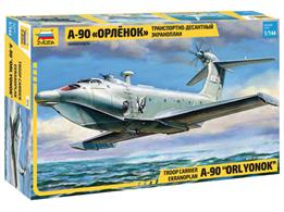 Zvezda 7016 1/144th A-90 Orlyonok Troop Carrier Ekranoplan KitNumber of Parts 38 Length 401mm