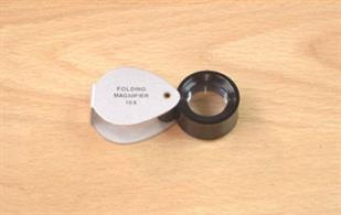 738-34 Economy Folding Magnifier. Lens Diameter: 16mm 10x Magnification.