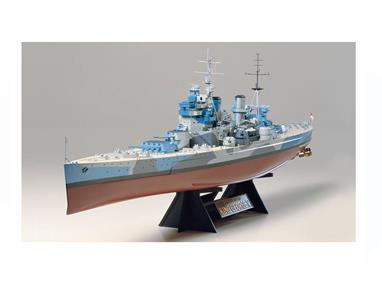 This Tamiya 78010 is a quality 1/350th scale plastic kit of the HMS King George V British Battleship is a must for all battleship enthusiasts.  Finished model length is 649 mm. As with this Tamiya King George Kit all the models from Tamiya has excellent detail.