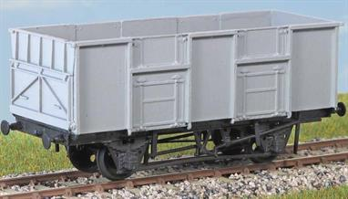 Over 2000 of these wagons (diagram 1/115) were built in 1953-1956 to carry coal to power stations and steel works. Withdrawn by 1982. These finely moulded plastic wagon kits come complete with pin point axle wheels and bearings. Glue and paints are required to assemble and complete the model (not included).