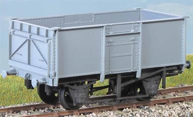 Over 21,000 of these wagons (diagram 109) were built in the 1950s. This kit caters for either pressed steel end doors or the more common fabricated type. These finely moulded plastic wagon kits come complete with pin point axle wheels and bearings. Glue and paint will be required, along with appropriate transfers. Additional parts to enable the vehicle to be modelled incorporating modifications made to the prototypes during their working life are included where appropriate.Glue and paints are required to assemble and complete the model (not included)