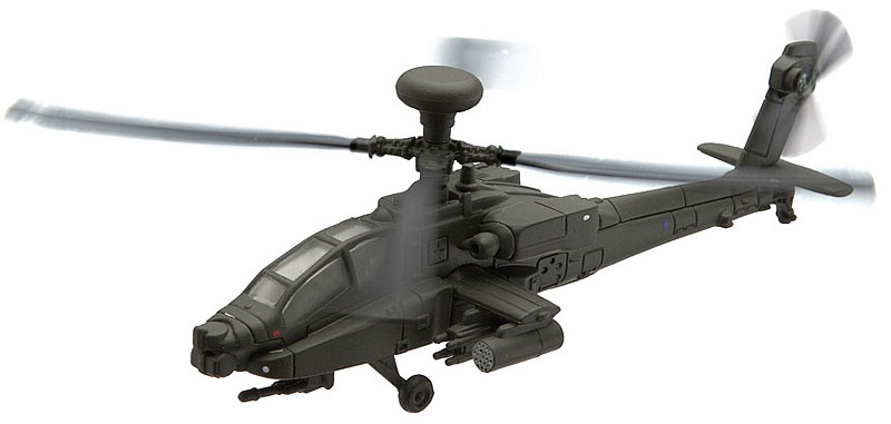 Apache Helicopter from the Showcase Collection CS90623  is a quality die-cast model aircraft suitable for the younger collector. Rotorspan 116mm