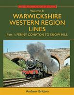 British Railways History in Colour volume 8 covering the Western Region lines in Warwickshire between Fenny Compton and Birmingham Snow Hill.Enjoy the sights of this busy GWR main line in the last decade of steam – plus the iconic Blue Pullman and a few early diesels – and all in glorious colour!Authored by Andrew Britton. 304 pages 275x215mm printed on gloss art paper. Casebound with printed board covers.