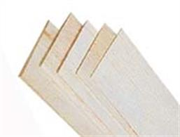Balsa wood is very soft and light with a coarse open grain, offering an excellent balance of strength and lightness. The density of dry balsa wood is about one third the density of other hard woods. Balsa wood is used to make very light, stiff structures in architectural modelling projects and for the construction of lightweight model aircraft. It is also a very popular material to use when making wooden floats for fishing, as it is low density but high in strength. Despite being very soft, balsa is classified as a hardwood and is the softest commercial hardwood available.Supplied as single sheets