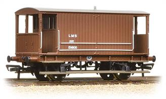 A detailed model of the early LMS standard design of goods brake van, a direct development of the last Midland Railway design. These vans were built with and without side lookout duckets, both styles remaining in service into the 1960s.This model of a van without lookout duckets is painted in the LMS bauxite colour.