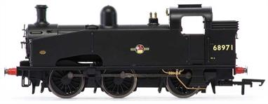 Hornby R3326 00 Gauge BR 68971 ex-LNER J50 Class 0-6-0T Shunting Engine BR Black Late CrestDimensions - Length 152mm.A new model of the LNER class J50 0-6-0T heavy shunting engines with their distinctive slope-front tanks and access slot.DCC Type: DCC Ready