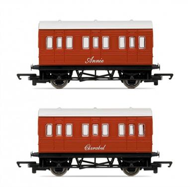 Hornby OO Annie and Clarabel from Thomas the Tank Engine R9293Thomas' well-known branchline passenger coaches, Annie and Clarabel.