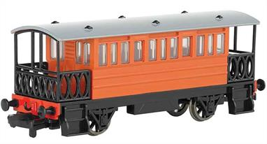 Model of Toby the Tram Engine's coach Henrietta from the Thomas the Tank Engine books and TV series.
