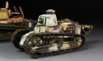 Meng' TS-008 1/35 Scale French FT-17 Light Tank (Cast Turret)Dimensions - Length 142mm Width 51mm.Glue and paints are required