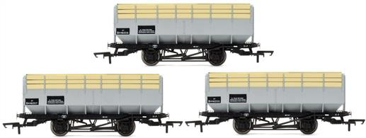 Hornby Railways R6783 OO Gauge Pack of 3 British Railways 20 Ton Coke Hopper WagonsThese large and quite distinctive hopper wagons were fitted with extra boards to provide volume capacity for 20 tons of coke to be carried.