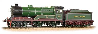 A detailed model of Great Central Railway 11F class 4-4-0 express passenger engine 502 Zeebruge finished in the stunning GCR lined green and maroon livery. Model fitted with DCC and Sound.These engines were passed to the LNER at grouping as class D11.