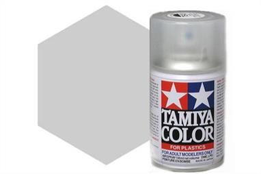 Tamiya TS76 Mica Silver Synthetic Lacquer Spray 100ml TS-76These cans of spray paint are extremely useful for painting large surfaces, the paint is a synthetic lacquer that cures in a short period of time. Each can contains 100ml of paint, which is enough to fully cover 2 or 3, 1/24 scale sized car bodies.