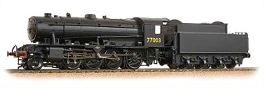 Bachmann Branchline 32-254A OO Gauge WD Austerity 2-8-0 77003 Wartime Plain Black LiveryThis model is finished as WD number 77003, a locomotive allocated to the LNER during WW2 and finished in a plain black livery.DCC Ready 21 pin decoder required for DCC operation.