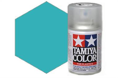 Tamiya TS72 Synthetic Lacquer Clear Blue Spray 100ml TS-72These cans of spray paint are extremely useful for painting large surfaces, the paint is a synthetic lacquer that cures in a short period of time. Each can contains 100ml of paint, which is enough to fully cover 2 or 3, 1/24 scale sized car bodies.