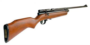 The SMK XS-78 is one of the most popular air rifles with our customers. The rifle offers a good combination of a powerful air rifle suitable for target shooting or rodent control with traditional features of a bolt action and a nicely finished wood stock. The XS-78 is a 'double-charge' rifle which uses 2 of the small 12g powerlet cylinders which fit 'back-to-back' in the chamber beneath the barrel.We can supply the XS-78 rifle on its' own, or in a complete shooting bundle with scope, sound moderator and padded carry bag.Bolt action single shot air rifle powered by 2 x 12g Co2 cylinders (not included)Calibre 0.22 / 5.5mmVelocity approx 575fpsTrigger single stage, three way adjustable with trigger block safety catch.Scope grooves 11.5mm cut in breech block.Weight 2.6kgLength 1015mmNote : scope and pellets are not supplied with the rifle