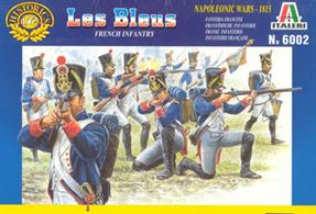 Italeri 1/72 Le Bleus French Infantry Plastic Figures 6002Contains 50 unpainted figuresPaints are required to complete the figures (not included)